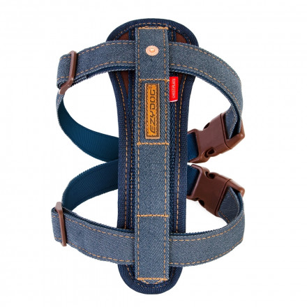 Chest Plate Harness Denim front view