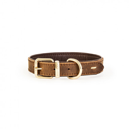 Oxford Leather Collar - Brown