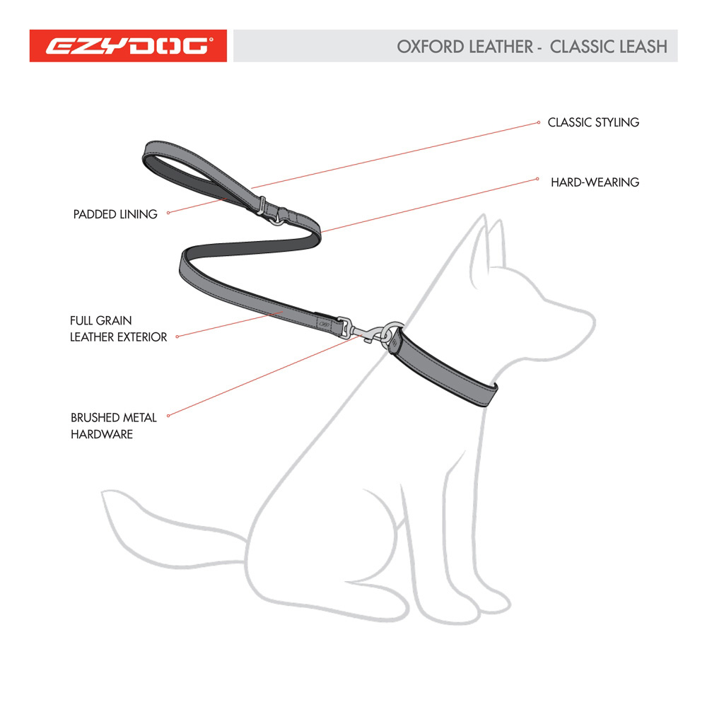 Leather dog leash diagram